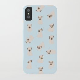 koda pattern (blue) iPhone Case