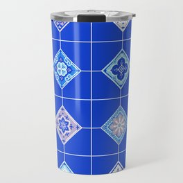 Talavera Mexican Tile – Blue Palette Travel Mug