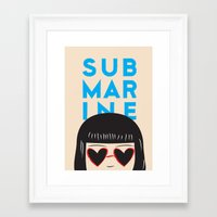 submarine Framed Art Prints featuring Submarine by chica
