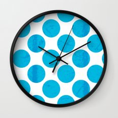 Blue Polka Dot Wall Clock