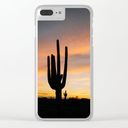 Arizona Sunset Clear iPhone Case