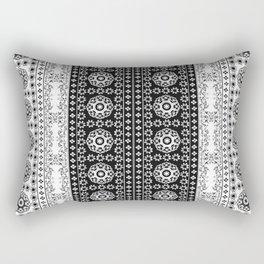 Monochrome Arabian tile Rectangular Pillow