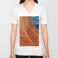 geology V-neck T-shirts featuring landscape collage #28 by _mackinac