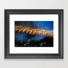 In My Dream, I Saw A Lighted Bridge Framed Art Print