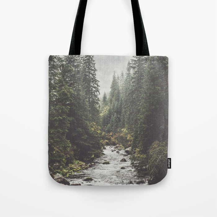 Mountain creek - Landscape and Nature Photography Tote Bag