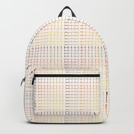 Abstract Geometric Grid Pattern Vector Backpack