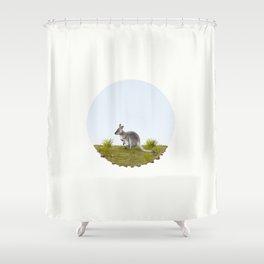 Bennett's wallaby (Macropus rufogriseus) Shower Curtain