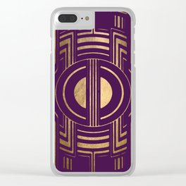 Art Deco Unfinished Love In Purple Clear iPhone Case