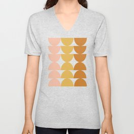 Simple Shapes in Earth Tones Unisex V-Neck