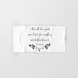 Guard Your Heart Hand & Bath Towel