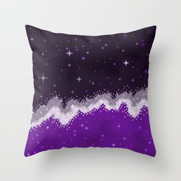 Ace Pride Flag Galaxy Throw Pillow