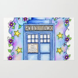Doctor Who TARDIS Allons-y! Rug
