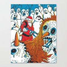 Santa's Last Stand Canvas Print