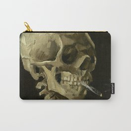 Skeleton with Burning Cigarette Carry-All Pouch
