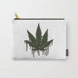 Melting Cannabis Leaf   Marijuana THC CBD Stoner Carry-All Pouch
