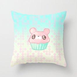 Cupcake Bear Throw Pillow