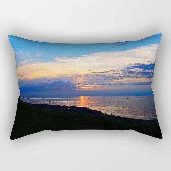 Sunset Balcony silhouette Rectangular Pillow