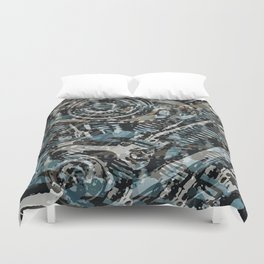 Abstract V-Twin Duvet Cover
