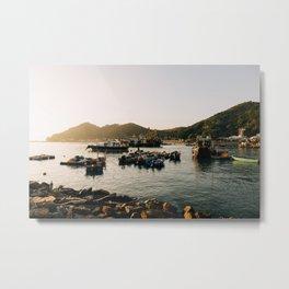 Sunset at Tai O Metal Print