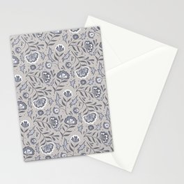 Floral Roma (Warm Gray) Stationery Cards