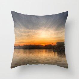Sunset Over Bay II Throw Pillow