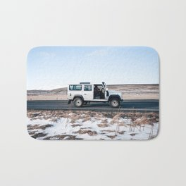 Day out shoting in Iceland Bath Mat