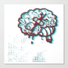 Plaster Brain Funky Canvas Print
