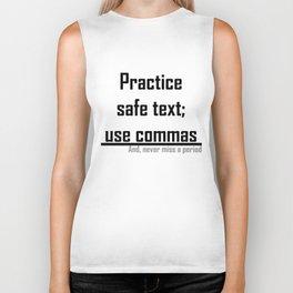 Practice Safe Text Biker Tank