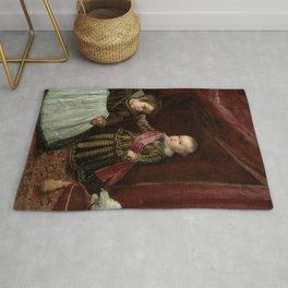 "Diego Velázquez ""Don Baltasar Carlos with a Dwarf"" Rug"