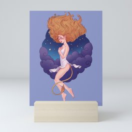 Leo Zodiac Sign - Gold Mini Art Print