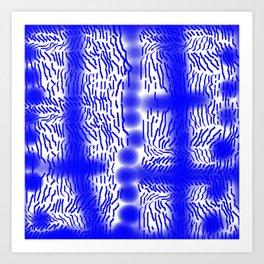 Blue Online Art Print