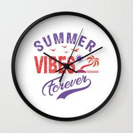 Summer Vibes Forever pr Wall Clock