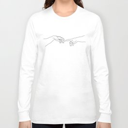 Creation of Adam Minimal Drawing Long Sleeve T-shirt