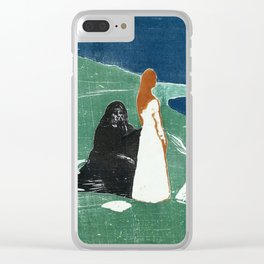 Two women at the beach, Edvard Munch, 1898 Clear iPhone Case