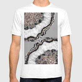 Yin Yang Agate Glitter Glam #9 #gem #decor #art #society6 T-shirt