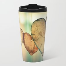 Vintage Boho Chic Bokeh Hearts Wind Chimes Metal Travel Mug