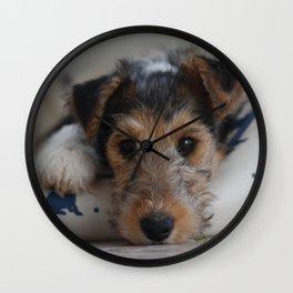 puppydog eyes Wall Clock
