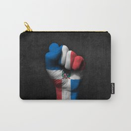 Dominican Flag on a Raised Clenched Fist Carry-All Pouch