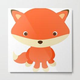 Cute Baby Fox Metal Print
