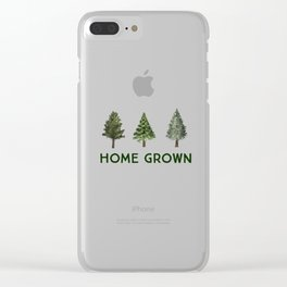 Home Grown Clear iPhone Case