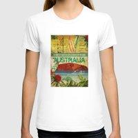 australia T-shirts featuring Australia by LilianaPerez