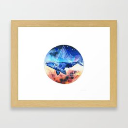 Galactic Whales Framed Art Print