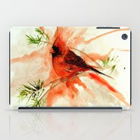 cardinal iPad Cases featuring Cardinal by Leanne Engel