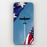 america iPhone & iPod Skins featuring America by TexasArt