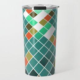 Checkered Blue Travel Mug