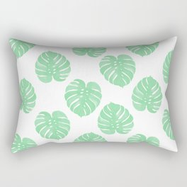 Palm Leaf indoor house plant hipster cheese plant palm leaf tropical vibes Rectangular Pillow