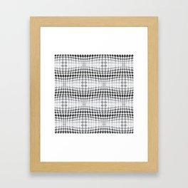Dottywave - Grey scale wave dots pattern Framed Art Print