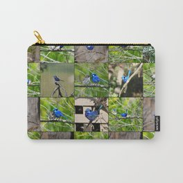 Blue Wren collage Carry-All Pouch