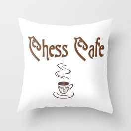 Chess Cafe Throw Pillow