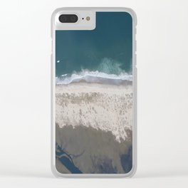 Aerial Beach Photograph: Masonboro Island | Wrightsville Beach NC Clear iPhone Case